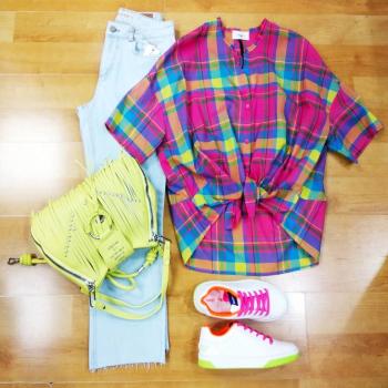 #instolike #glamfanatics #sportlife #sportylook #denimlovers #denimstyle #camicia #quadri #colori #like4likes #loveshopping💞 #moodoftheday #vicologirl #silvianheachdress #shopartstyle #likefollowers #denimdenimdenim #sundaymood☀️ #suntime #ipanemacapurso🌈