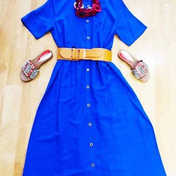 #curvygirl #curvywoman #curvyoutfit #curvystyle #curvyfashion #curvyblogger #italianstyle #lookstyle #fashiondiaries #fashionista #fashionlook #loveshopping💞 #dress #longdress #blue #red #accessories #instagood #ipanemacapurso☀️