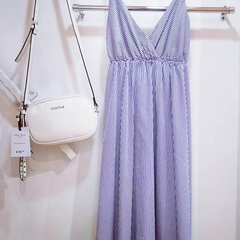 #weekendstyle☀️ #weekendmood #moodoftheday #girly #dress #zahjrcollection #lookstyle #look💙 #longdress #cottondress #righe #celeste #foolow #followforfollowback #following👀 #instalike #instafashion #instaphoto #instamoment #instapic #saturday #saturdayvibes #outfitoftheday #shoppingtime #ipanemacapurso♥️